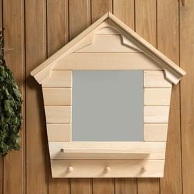Зеркало 'Теремок', сосна, натуральный, 65×43×10 см Ош