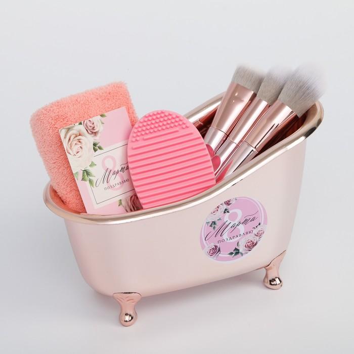 Подарочный набор в ванночке «С 8 Марта», 20 х 7 х 13 см