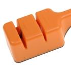 Точилка для ножей стальных и керамических, 2 заточки-шлифовки, цвет МИКС - Фото 3