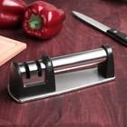 Заточка для ножей «Металлик», с 2 отделениями для стальных и керамических ножей - Фото 2