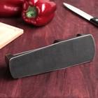 Заточка для ножей «Металлик», с 2 отделениями для стальных и керамических ножей - Фото 4