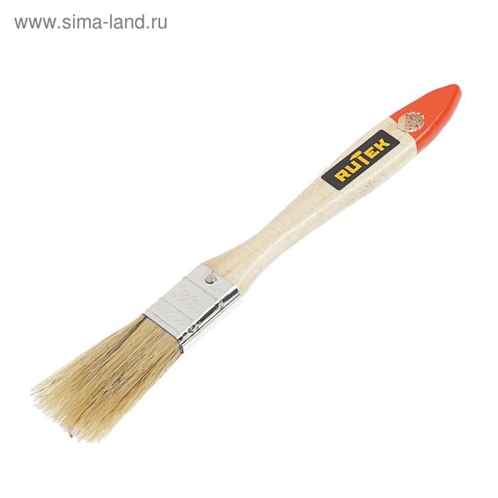 """Кисть малярная  Rutek """"Любитель"""", натуральная щетина, деревянная ручка, 20 мм"""