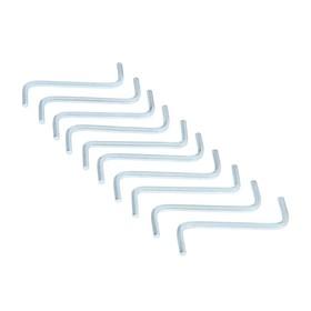 Ключ мебельный TUNDRA, шестигранный S-образный, сталь 45, 4 мм, 10 шт.