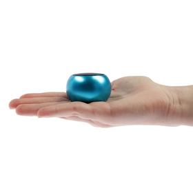 Портативная колонка LuazON LAB-65, 3 Вт, 300 мАч, металл, синий Ош
