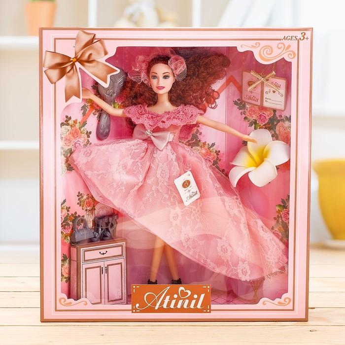 Кукла-модель «Анастасия» в платье, с аксессуарами