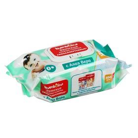 Влажные салфетки детские Bambolina с экстрактом алоэ, 120 шт