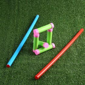 Игра 'Городки' из пластика 60 см, 16 см, d=2,2 см Ош