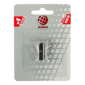 Точилка GLOBUS, 1 отверстие, металлическая, скошенный край