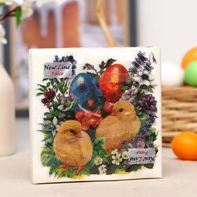 Салфетки бумажные New line «Цыплята», 2 слоя, 33*33 см, 20 шт.