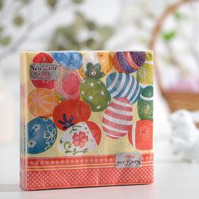 Салфетки бумажные New line «Пасхальные яйца», 2 слоя, 33*33 см, 20 шт.