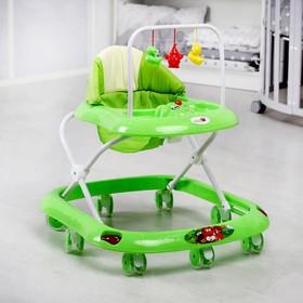 Ходунки «Маленький водитель С», 8 сил. колес, муз., зеленый Ош
