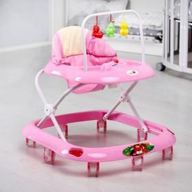 Ходунки «Маленький водитель С», 8 сил. колес, муз., розовый Ош