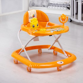 Ходунки «Солнышко С», 7 колес, муз. игрушки, колеса силикон, оранжевый Ош