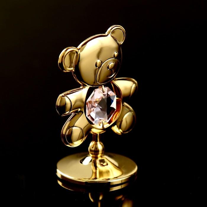 Сувенир с кристаллами Swarovski Медвежонок Тедди 5,5х3,7 см