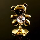 "Сувенир с кристаллами Swarovski ""Медвежонок Тедди"" 5,5х3,7 см - Фото 2"
