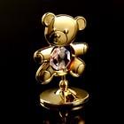 "Сувенир с кристаллами Swarovski ""Медвежонок Тедди"" 5,5х3,7 см - Фото 3"