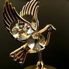 "Сувенир с кристаллами Swarovski ""Голубь"" 5,9х4 см - Фото 4"