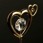 "Сувенир с кристаллами Swarovski ""Двойное сердце"" 5,1х4,1 см - Фото 4"