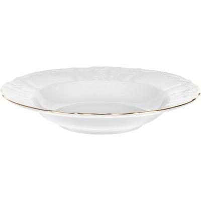Тарелка глубокая Bernadotte, декор «Отводка золото», 23 см - Фото 1