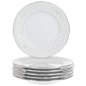 Тарелка десертная Bernadotte «Деколь, отводка платина», 17 см