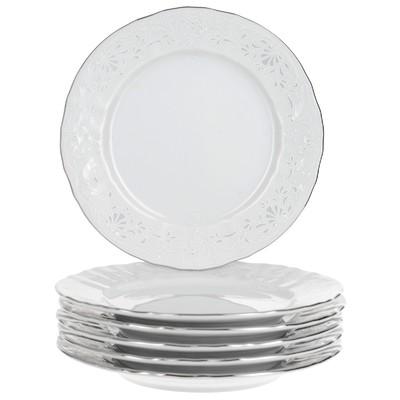 Тарелка десертная Bernadotte, декор «Деколь, отводка платина», 17 см - Фото 1