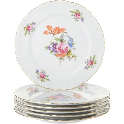 Тарелка мелкая Bernadotte, декор «Мейсенский букет», 21 см - Фото 1