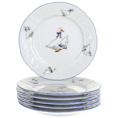 Тарелка десертная Bernadotte, декор «Гуси», 17 см - Фото 1