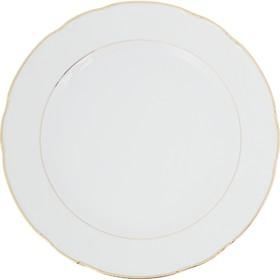 """Блюдо мелкое 30 см, Constance, декор """"Отводка золото"""""""