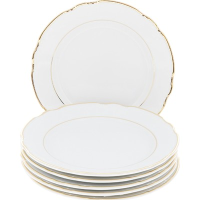 Тарелка десертная Constance, декор «Золотая нитка, Отводка золото», 19 см - Фото 1