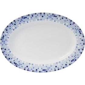 Блюдо овальное Opal, декор «Мозайка», 24 см