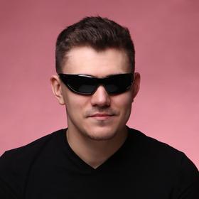 Очки солнцезащитные 'Мастер К.', uv 400, 14х14х4.5 см, линза 4.5х5.2 см, чёрные Ош