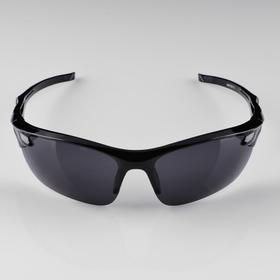 Очки спортивные 'Мастер К.', uv 400, 13х14.5х4.2 см, линза 4х6 см, чёрные Ош