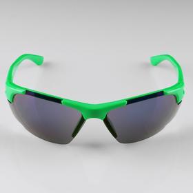 Очки спортивные 'Мастер К.', uv 400, 13х14.5х4.2 см, линза 4х6 см, зелёные Ош