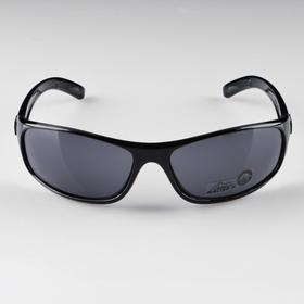 Очки спортивные 'Мастер К.', uv 400, 12х13х4 см, линза 4х6 см, чёрные Ош