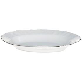 Блюдо овальное Bernadotte, декор «Деколь, отводка платина», 24 см