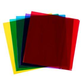 Обложка для учебников 233 х 455, 110 мкм, ПВХ, универсальная цветная, МИКС Ош