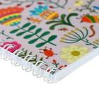 Тетрадь 48 листов в клетку, на гребне Floral meadow, мелованный картон, выборочный УФ-лак, микс - Фото 2