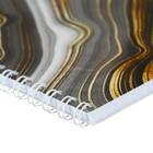 Тетрадь 48 листов в клетку, на гребне Gold Liquid мелованный картон, УФ-лак, микс - Фото 2