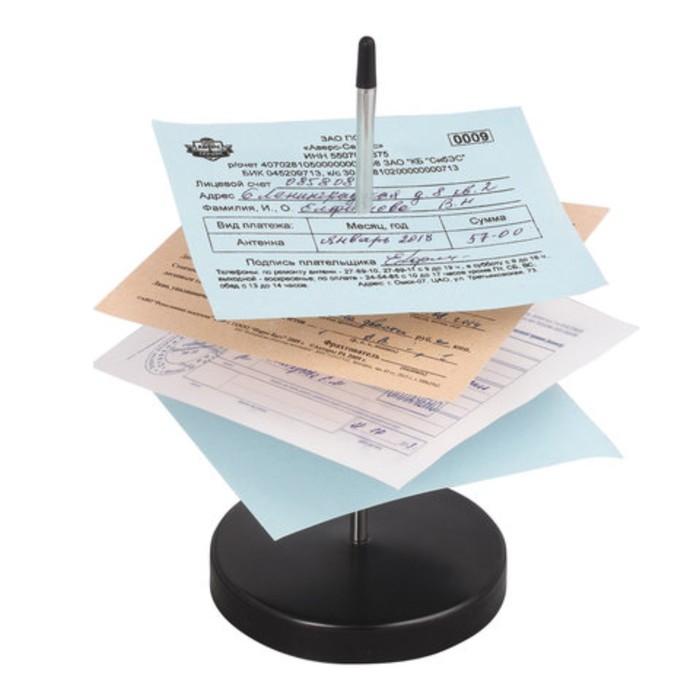 Игла настольная для чеков и билетов BRAUBERG, 13,5*7*7 см., металлическая подставка 237000