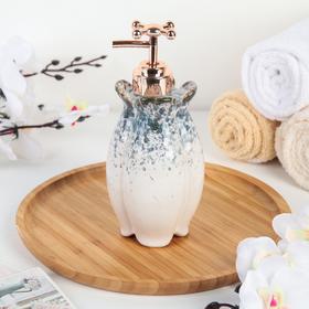 Дозатор для жидкого мыла «Афродита», цвет серый Ош