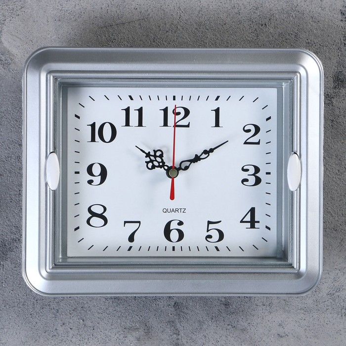 Часы настенные, серия Классика, Янита, 22х3х18 см, 1 АА, плавный ход