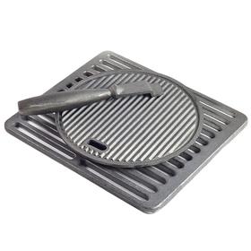 Набор: решётка- гриль 34×30 см + сковорода-гриль 26 см