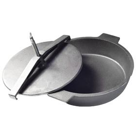 Чугунная сковорода 29 см, для цыпленка табака с прессом и винтом