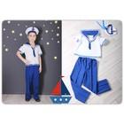 Карнавальный костюм «Моряк», блуза, брюки, бескозырка, рост 104 см