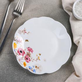 Тарелка десертная Доляна «Летняя романтика», d=17,5 см