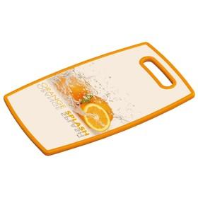 Доска разделочная «Апельсин» 37×23×1.2 см, пластик