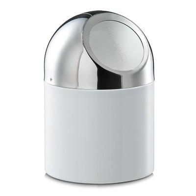 Контейнер настольный для мусора 12×18 см, белый, металл - Фото 1
