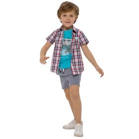 Верхняя сорочка для мальчиков, рост 86 см, цвет бело-красный Ош
