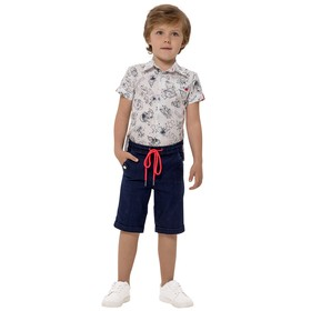 Верхняя сорочка для мальчиков, рост 86 см, цвет бело-чёрный Ош