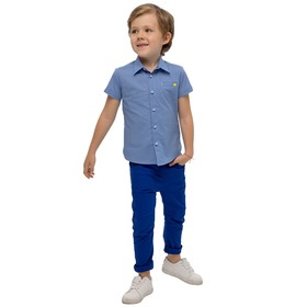 Верхняя сорочка для мальчиков, рост 86 см, цвет голубой Ош